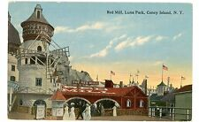 Coney Island Brooklyn NYC NY-RED MILL RIDE IN LUNA PARK-Postcard