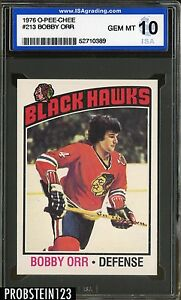 1976 O-PEE-CHEE OPC Hockey #213 Bobby Orr Black Hawks HOF ISA 10 GEM MINT