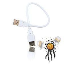 USB 2.0 HISPEED Prolunga Cavo a spina Jack 0,3m BIANCO 28awgx1p 24awgx2c