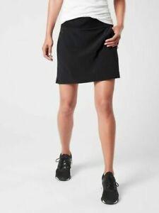 ATHLETA  Soho Skort Skirt Black  #211382 NWT 10 ( M ) Travel Hiking Casual