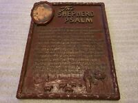VINTAGE THE SHEPHERD PSALM SYROCO WOOD WALL HANGING RELIGIOUS PLAQUE w JESUS