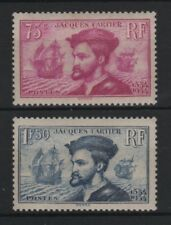 "FRANCE STAMP 296/97 ""JACQUES CARTIER AU CANADA 2 TIMBRES "" NEUFS xx LUXE R824"