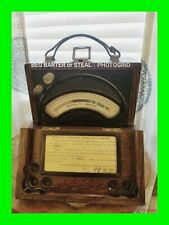 Over 90 Year Old Antique Weston D.C. Ammeter Model 45 Dated OCT. 24 1928 ~ RARE!