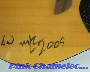 First Act 222 6 String Acoustic Guitar Inspired by Adam Levine UNKNOWN SIGNATURE