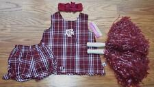 ADORABLE RUFFLE BLOOMERS OUTFIT COSTUME 6/9 MTHS A&M TEXAS AGGIES POM POM BOW