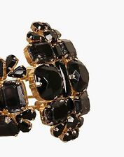 DSQUARED OPHELIA ARMLET GOLD PLATED BRASS AND BLACK CRYSTAL FORMAL CUFF BRACELET