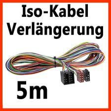 ISO-ISO 500cm 5m prórroga autoradio altavoz + electricidad turismos auto cable 12v