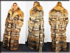 New American Grey Fox Fur Coat Size 4 Extra Large 4XL Efurs4less