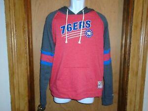 Philadelphia 76ers Mitchell & Ness Women's Hooded Hoodie Sweatshirt XL NWT
