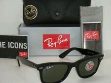 Hot!! Ray-Ban Wayfarer RB 2140 Polarized Black / green 901/58 50mm