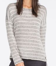 NWT WOMENS HURLEY BIRDIE BLACK MARLED STRIPE PULLOVER SWEATER TOP XS X-SMALL NEW