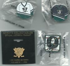 NHL Mighty Ducks of Anaheim 4 Pin Lot Jersey Pins Perry Getzlaf HOCKEY Vintage