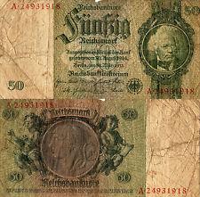 BANCONOTA DA 50 MARCHI GERMANIA 3° REICH - 1933