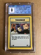 2000 Pokemon Here Comes Team Rocket 15/82 Holo 1st Edition Perfect CGC 9 Mint