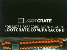Loot Crate Survival Paracord Wrist Band and Instruction Sheet Lootcrate New NIP