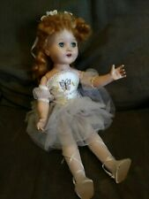 Old Vintage Antique doll butterfly ballerina dress character 180 red sleepy eyes