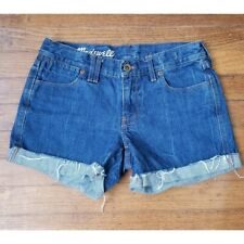 Madewell Denim Blue Jean Cuffed Shorts Size 25
