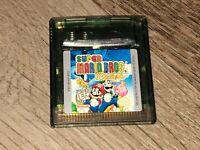 Super Mario Bros. Deluxe Nintendo Game Boy Color Battery Saves Authentic