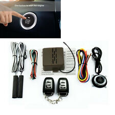 Car Security Alarm System &Keyless Entry Remote Start Push Button Engine Starter