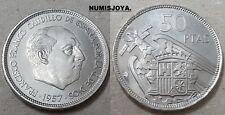 FRANCO. ESCASA moneda de 50 Pesetas PROFF año 1957 en estrella 75. AUTENTICA.