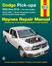 Repair / Service / Shop Manual Dodge Ram Truck 2009 2010 2011 2012 Haynes 30043