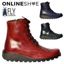 100% Leather Low Heel (0.5-1.5 in.) Lace Up Boots for Women