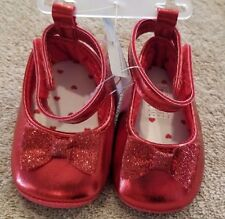 DARLING! NEW JUST ONE YOU BY CARTER'S NEWBORN RED SPARKLE SHOES REBORN