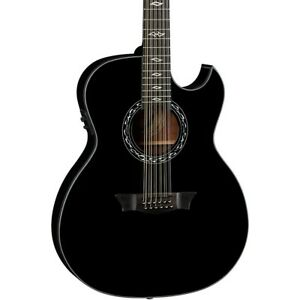 Dean Exhibition 12-String Thin body Acoustic-Electric Guitar Classic Black