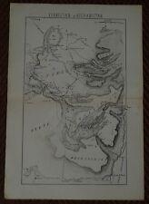 CROQUIS MILITAIRE CAPITAINE PICARD 1886 SAUMUR ANGLAIS ET RUSSES ASIE CENTRALE