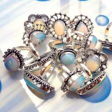 Opalite Gemstone 20pcs Rings Wholesale Lot 925 Sterling Silver Plated WHR-6