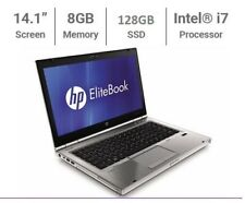 "HP EliteBook 8460p 14"" Intel i7 2.70GHz 8GB RAM 128Gb SSD Cheap Gaming Laptop"