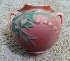 """Vintage Roseville Art Pottery Bleeding Heart 378-6"""" Pink Double Handled Bowl"""