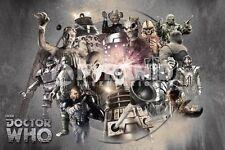 Doctor Who - Enemies POSTER 60x90cm NEW * Cyberman Daleks Silence Weeping Angel+