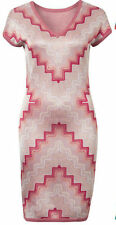 BNWT MISSONI Zigzag Sheath Fine Knitted Red Dress @ Size S Small UK 10 - 12 NEW