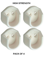 WARDROBE RAIL SUPPORT BRACKETS WHITE OVAL CLOTHES HANGING POLE HANGER TUBE ENDS
