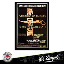 GOLDFINGER SEAN CONNERY 007 FILM POSTER Movie Film Repro Poster Print
