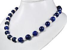 Collar BELLO de Lapislázuli con perlas de Agua Dulce l-47cm