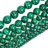 1PC Natural Malachite Gemstone Round Beads 15.5'' Strand 6mm 8mm 10mm 12mm New