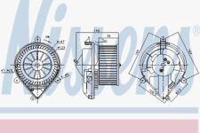 Nissens 87175 Blower Motor PEUGEOT 306   93-