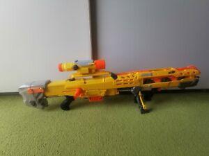 NERF Longshot CS-6 (gelb), Top-Zustand inkl. Pfeile und Magazin