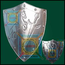 Medieval Knight Iron Steel Shield for re-enactment larp role play armour costume