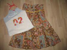 ZARA langer Rock + Sommer-Shirt Viskose ab 134/140 Mädchen-Kombi Sommer
