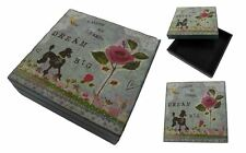 IAN SNOW RUSTIC SHABBY FLORAL DOG JEWELLERY MAKE UP PRESENT CHIC HAND MADE BOX