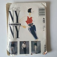 McCalls NY Collection 4181Sewing Pattern  Misses 8 Skirt Jacket Blouse Uncut