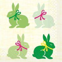 20 Serviette Ruby in Grün aus Tissue 33 x 33 cm - Ostern Hasen Rabbits