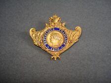 Insigne Broche Ancienne MÉDAILLE MILITAIRE  1870
