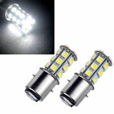 2pcs DC 12V Volt 35W White Bulbs BA15D 27SMD 5050 LED 180-220LM Light Lamps Set