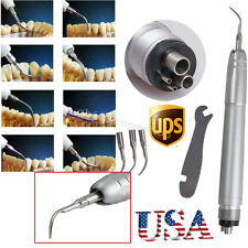 【USA】Dental Piezo Ultrasonic Air Scaler Handpiece Hygienist 4 Hole 3Tips fit EMS