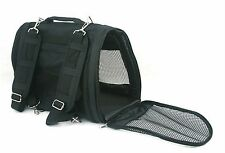 Prefer Pets Dog Pet Backpack Carrier Airline Approved Cat Black 15 x 12 x10