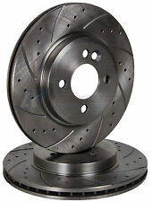 FRONT DRILLED & GROOVED BRAKE DISCS FORD STREETKA